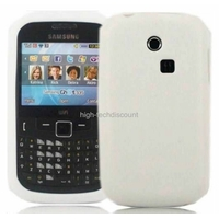 Housse etui coque silicone gel BLANC pour Samsung s3350 Chat 335 + film ecran