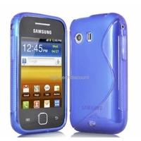 Housse etui coque silicone gel BLEU pour Samsung s5360 Galaxy Y + film ecran