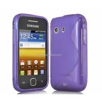 Housse etui coque silicone gel MAUVE pour Samsung s5360 Galaxy Y + film ecran