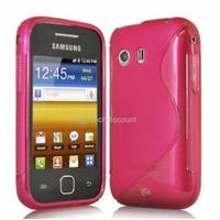 Housse etui coque silicone gel ROSE pour Samsung s5360 Galaxy Y + film ecran