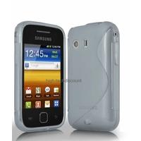 Housse etui coque silicone gel BLANC pour Samsung s5360 Galaxy Y + film ecran