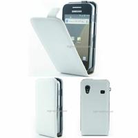 Housse etui coque cuir BLANC pour Samsung s5830 Galaxy Ace + film ecran