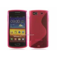 Housse etui coque silicone gel ROSE pour Samsung s8600 Wave 3 + film ecran
