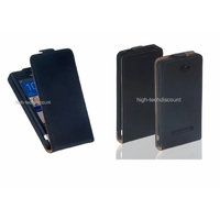 Housse etui coque cuir fine NOIR pour Windows Phone 8S by HTC + film ecran