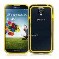 Housse etui coque bumper gel JAUNE pour Samsung i9500 i9505 Galaxy s4 + film ecran