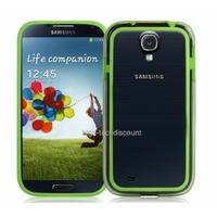 Housse etui coque bumper gel VERT pour Samsung i9500 i9505 Galaxy s4 + film ecran