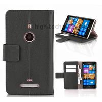 Housse etui coque portefeuille pour Nokia Lumia 925 + film ecran - NOIR