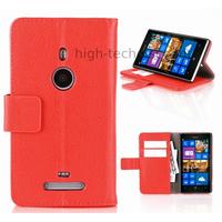 Housse etui coque portefeuille pour Nokia Lumia 925 + film ecran - ROUGE