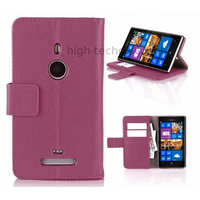 Housse etui coque portefeuille pour Nokia Lumia 925 + film ecran - MAUVE