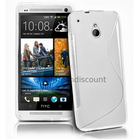 Housse etui coque pochette silicone gel pour HTC One Mini (M4) + film ecran - BLANC