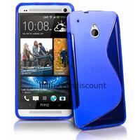Housse etui coque pochette silicone gel pour HTC One Mini (M4) + film ecran - BLEU