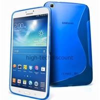 Housse etui coque gel pour Samsung p8200 p8210 Galaxy Tab 3 8.0 + film ecran - BLEU