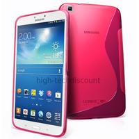 Housse etui coque gel pour Samsung p8200 p8210 Galaxy Tab 3 8.0 + film ecran - ROSE