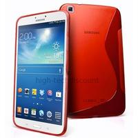Housse etui coque gel pour Samsung p8200 p8210 Galaxy Tab 3 8.0 + film ecran - ROUGE