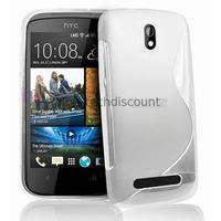 Housse etui coque pochette silicone gel pour HTC Desire 500 + film ecran - BLANC