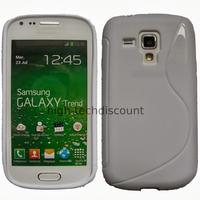 Housse etui coque silicone gel pour Samsung s7580 Galaxy Trend Plus + film ecran - BLANC