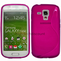 Housse etui coque silicone gel pour Samsung s7580 Galaxy Trend Plus + film ecran - ROSE