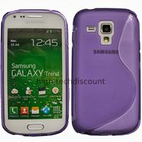 Housse etui coque silicone gel pour Samsung s7580 Galaxy Trend Plus + film ecran - MAUVE