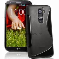Housse etui coque pochette silicone gel pour LG G2 D802 + film ecran - NOIR