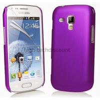 Housse etui coque pochette pour Samsung s7580 Galaxy Trend Plus + film ecran - MAUVE RIGIDE
