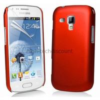 Housse etui coque pochette pour Samsung s7580 Galaxy Trend Plus + film ecran - ROUGE RIGIDE