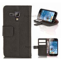 Housse etui coque portefeuille pour Samsung s7580 Galaxy Trend Plus + film ecran - NOIR