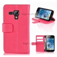 Housse etui coque portefeuille pour Samsung s7580 Galaxy Trend Plus + film ecran - ROSE