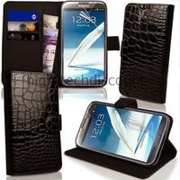 Housse etui coque portefeuille pour Samsung Galaxy Note 3 n9000 n9005 + film ecran - NOIR