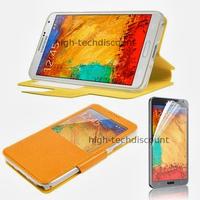 Housse etui coque pour Samsung Galaxy Note 3 n9000 n9005 + film ecran - ORANGE VIEW
