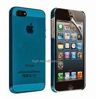 Housse etui coque fine rigide BLEU pour Apple iPhone 5 5S 5G + film ecran