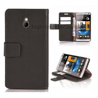 Housse etui coque portefeuille pour HTC One Mini (M4) + film ecran - NOIR