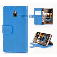 Housse etui coque portefeuille pour HTC One Mini (M4) + film ecran - BLEU