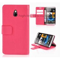 Housse etui coque portefeuille pour HTC One Mini (M4) + film ecran - ROSE