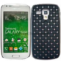 Housse etui coque rigide pour Samsung s7580 Galaxy Trend Plus + film ecran - CHROME NOIR