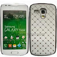 Housse etui coque rigide pour Samsung s7580 Galaxy Trend Plus + film ecran - CHROME BLANC