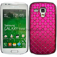 Housse etui coque rigide pour Samsung s7580 Galaxy Trend Plus + film ecran - CHROME ROSE