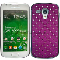 Housse etui coque rigide pour Samsung s7580 Galaxy Trend Plus + film ecran - CHROME MAUVE