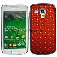 Housse etui coque rigide pour Samsung s7580 Galaxy Trend Plus + film ecran - CHROME ROUGE