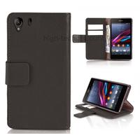 Housse etui coque portefeuille pour Sony Xperia Z1 + film ecran - NOIR
