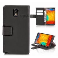 Housse etui coque portefeuille pour Samsung Galaxy Note 3 n9000 n9005 + film ecran - NOIR R