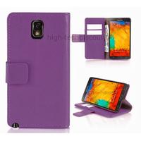 Housse etui coque portefeuille pour Samsung Galaxy Note 3 n9000 n9005 + film ecran - MAUVE R