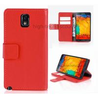 Housse etui coque portefeuille pour Samsung Galaxy Note 3 n9000 n9005 + film ecran - ROUGE R