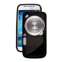 Housse etui coque silicone gel pour Samsung Galaxy s4 Zoom + film ecran - NOIR