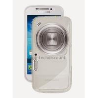 Housse etui coque silicone gel pour Samsung Galaxy s4 Zoom + film ecran - TRANSPARENT