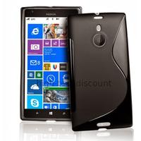 Housse etui coque pochette silicone gel pour Nokia Lumia 1520 + film ecran - NOIR