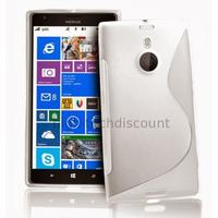 Housse etui coque pochette silicone gel pour Nokia Lumia 1520 + film ecran - BLANC