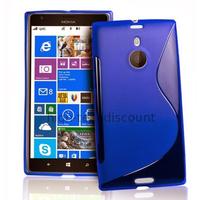 Housse etui coque pochette silicone gel pour Nokia Lumia 1520 + film ecran - BLEU