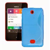 Housse etui coque pochette silicone gel pour Nokia Asha 501 + film ecran - BLEU