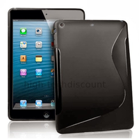 Housse etui coque silicone gel pour Apple iPad 5 Air + film ecran - NOIR