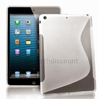 Housse etui coque silicone gel pour Apple iPad 5 Air + film ecran - BLANC